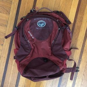 Osprey Ozone 46 backpack bag hiking travel red